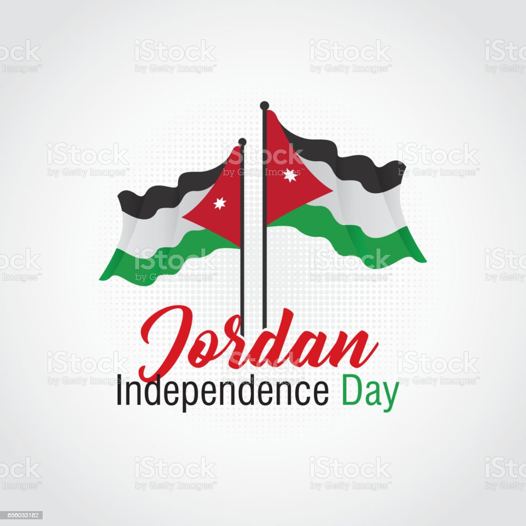 Jordan Independence Day Vector Illustration Suitable For
