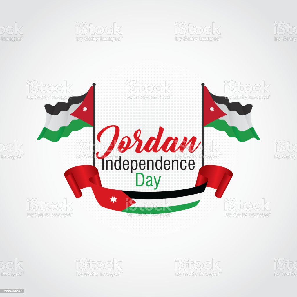 Jordan Independence Day Vector Illustration Suitable For Greeting