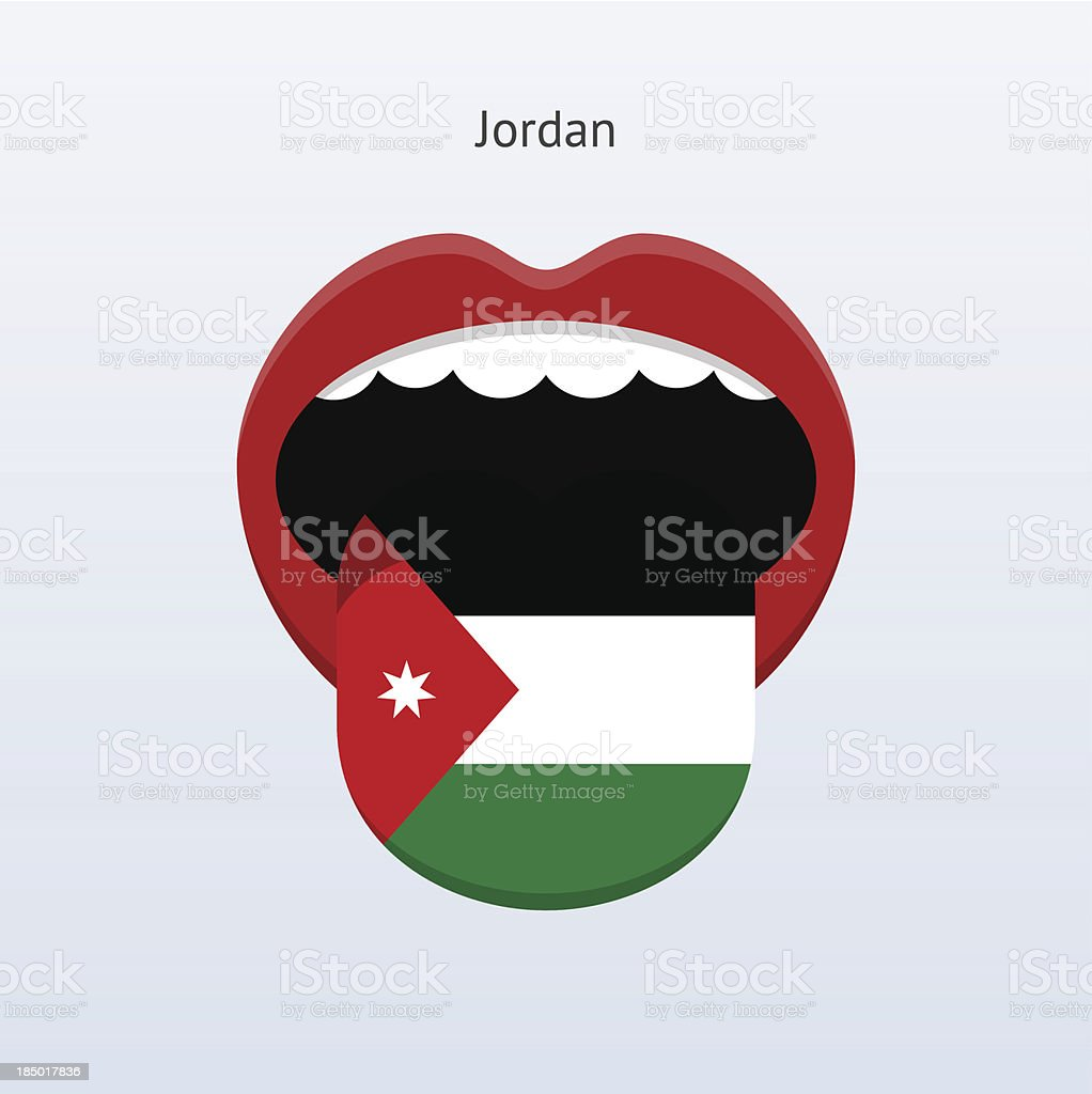 Jordan language. Abstract human tongue. royalty-free stock vector art