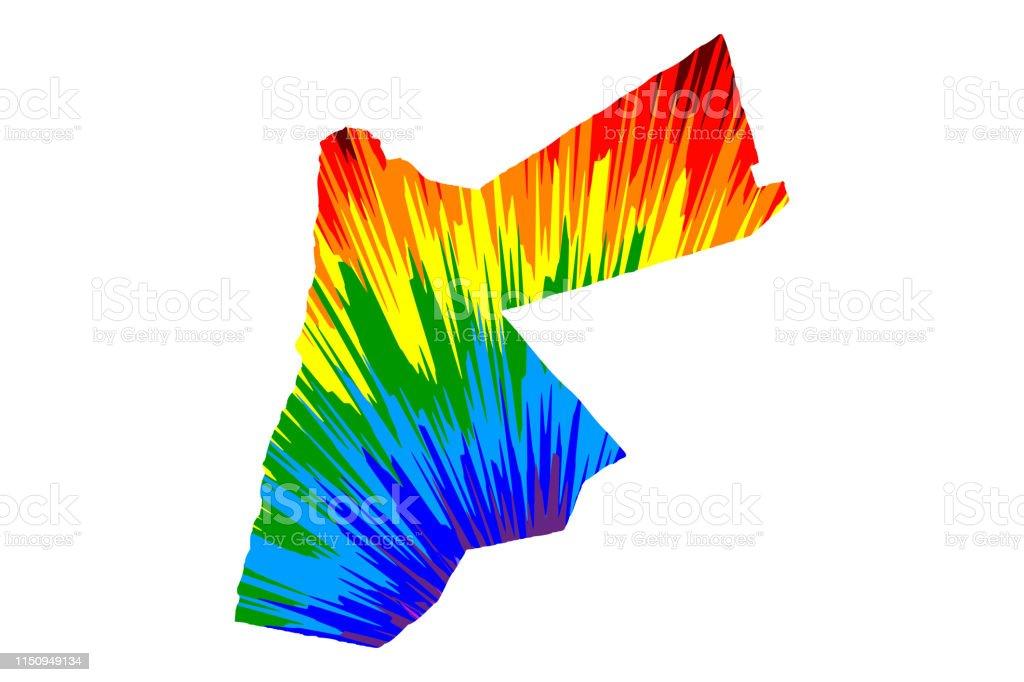 Jordan Map Is Designed Rainbow Abstract Colorful Pattern Hashemite on saudi arabia map, united kingdom map, people's republic of korea map, brazil map, kingdom of moab, papua new guinea map, aqaba jordan map, antigua and barbuda map, hong kong map, the bahamas map, republic of nauru map, iran map, india map, moldova map, united arab emirates map, jordan geography map, amman-jordan map, bermuda map, french wine map,