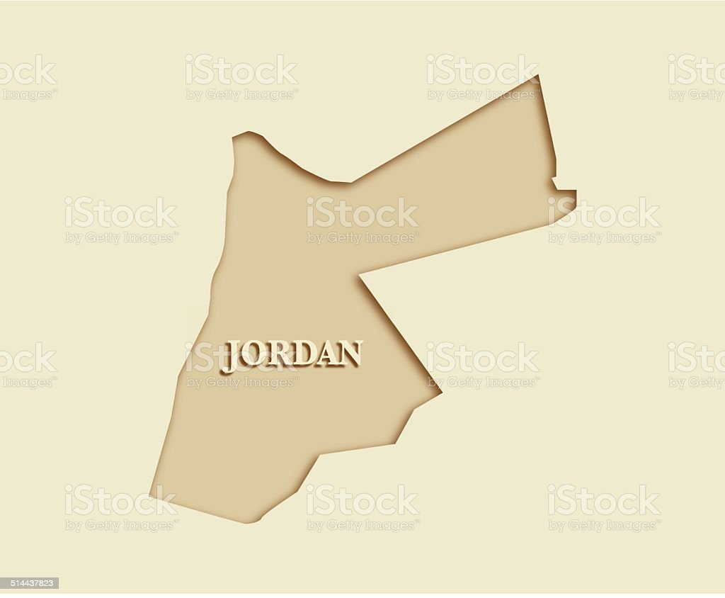 Jordan Map vector art illustration