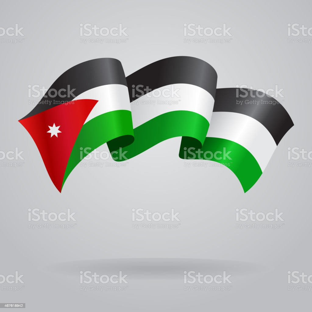 Jordan waving Flag. Vector illustration vector art illustration