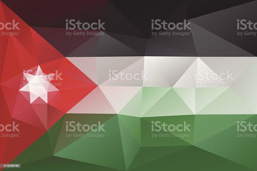 Jordanian flag vector art illustration