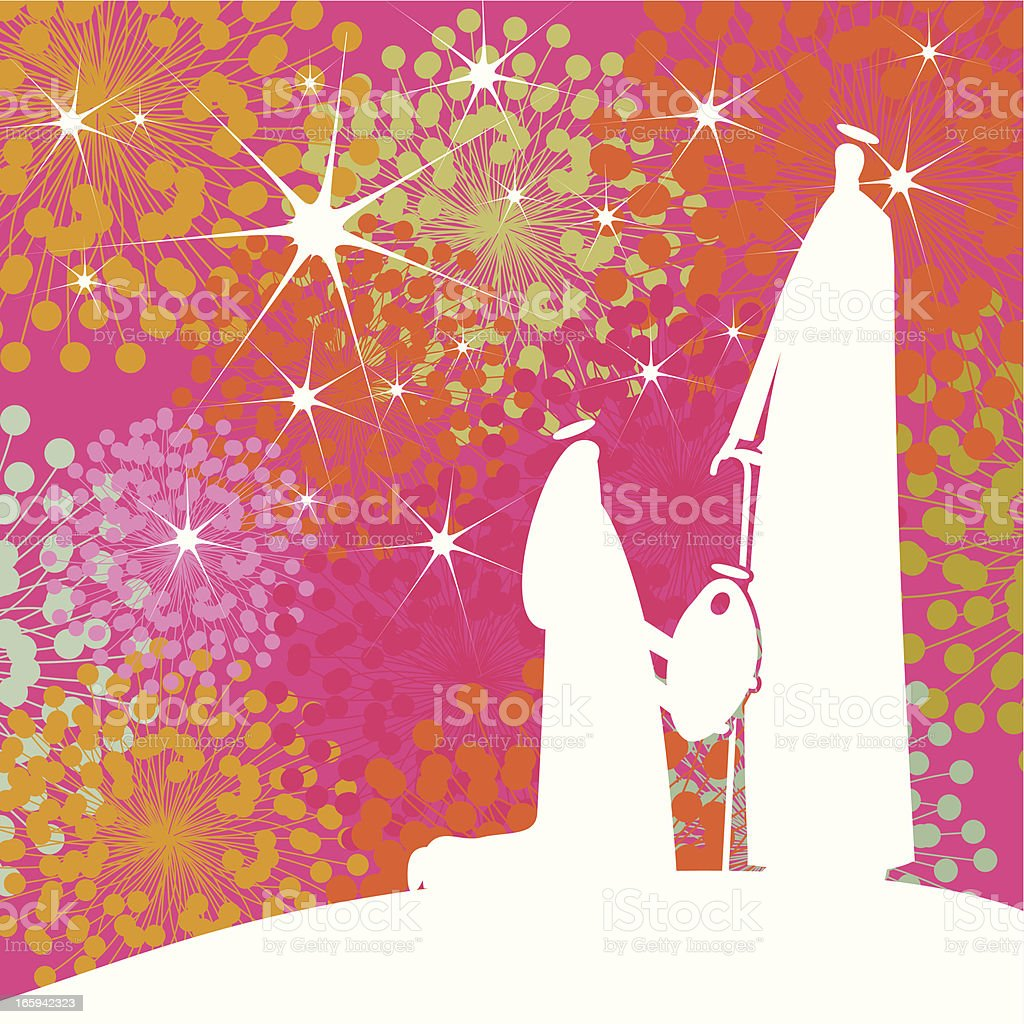 Joseph Mary And The Baby Jesus Stock Vector Art & More Images of ...