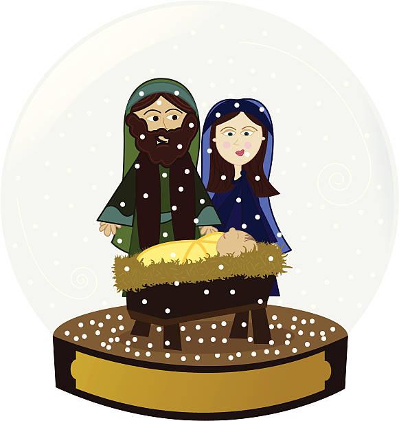 Royalty Free Nativity Scene Snow Globe Clip Art, Vector ...