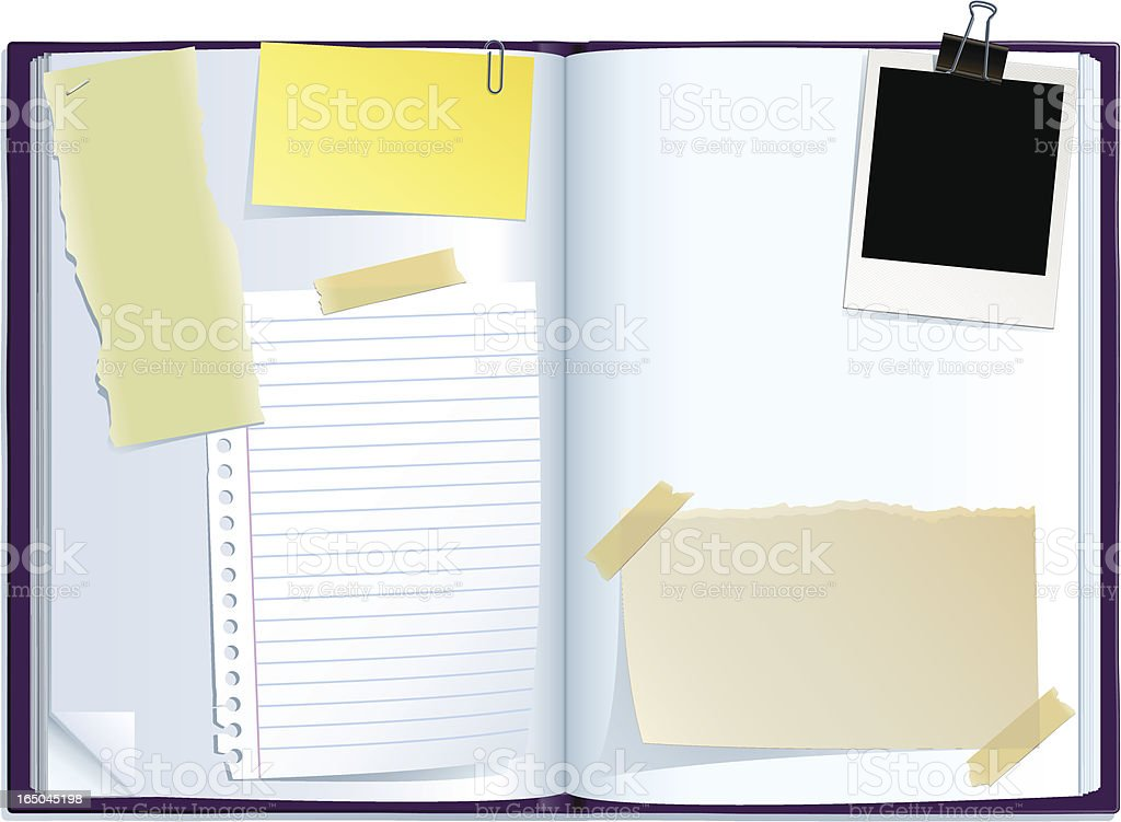 journal spread vector art illustration
