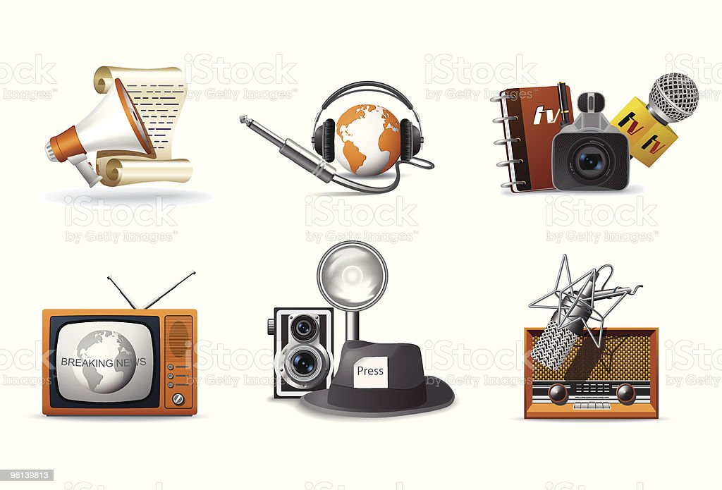 Journalism and press icons royalty-free journalism and press icons stock vector art & more images of analog