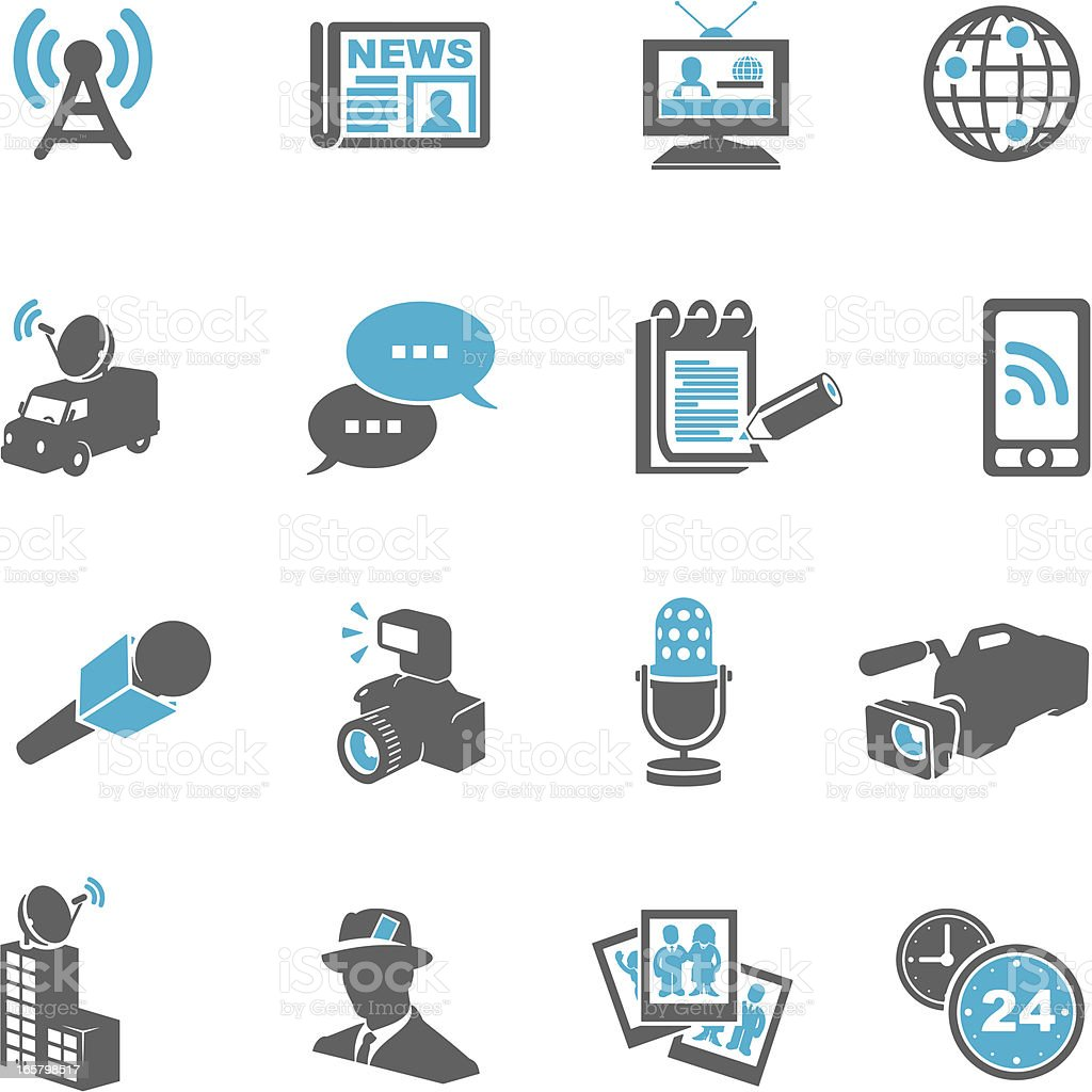Journalism Icons royalty-free stock vector art