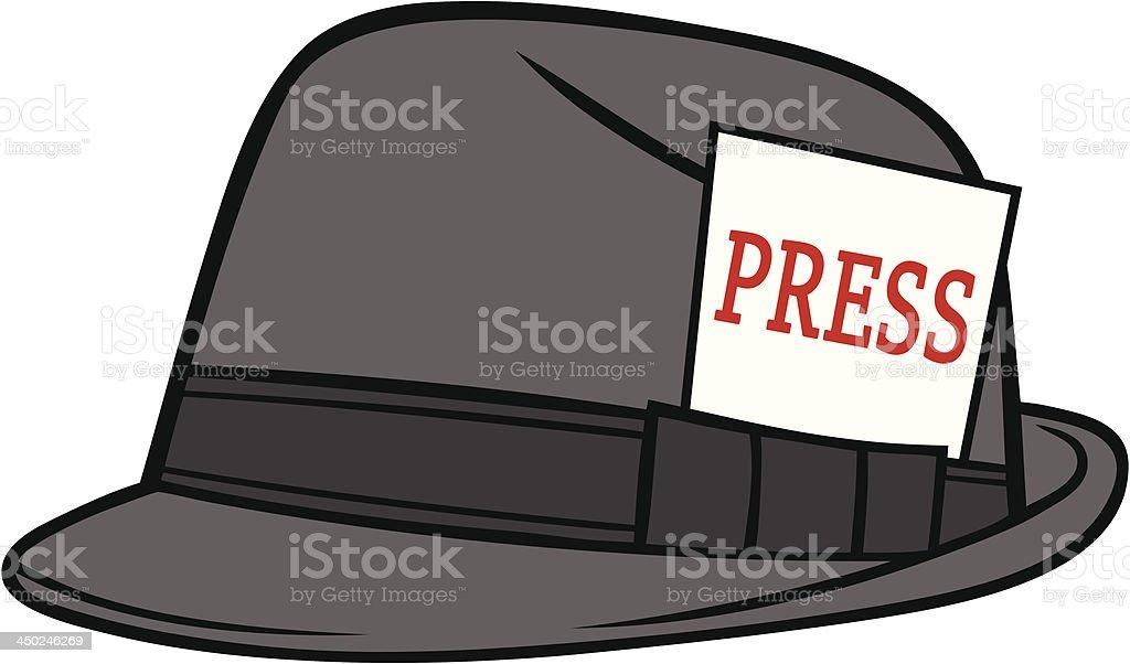 Journalist Hat vector art illustration