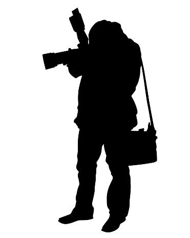 Journalist whit camera
