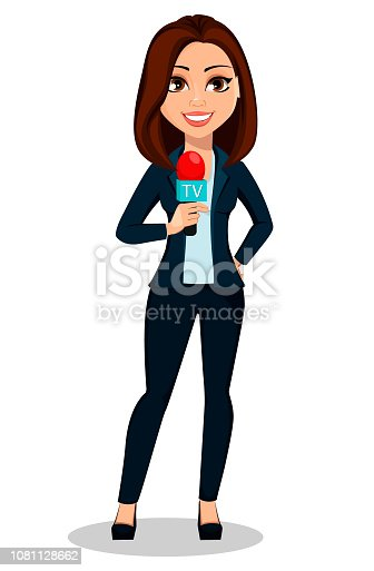 Man holding microphone illustration, Journalist illustration Journalism  Illustration, Reporter is speaking transparent background PNG clipart |  HiClipart