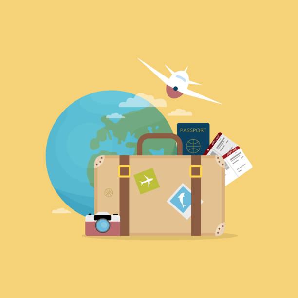 여행 컨셉 일러스트입니다. - travel stock illustrations