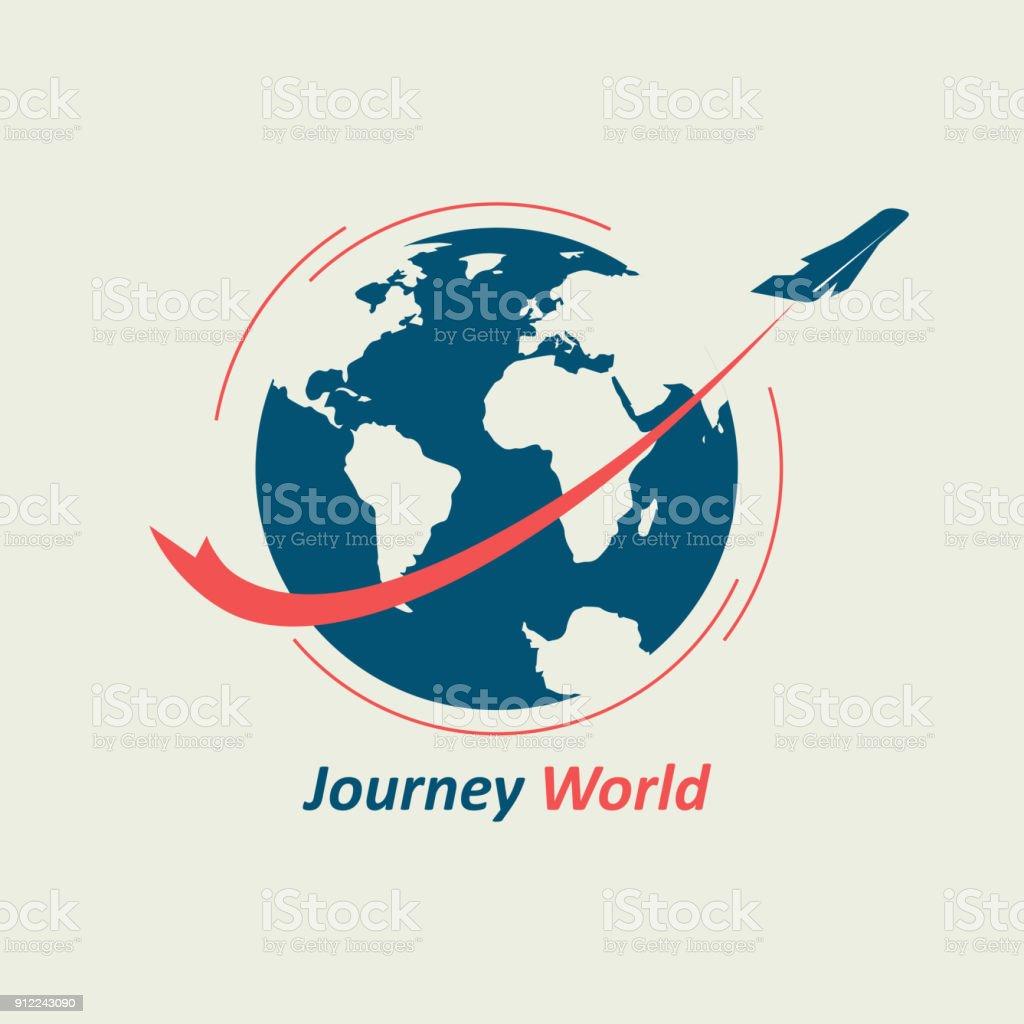 Journey Through the World vector art illustration