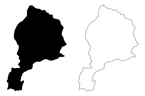 ジューズジャーン州地図ベクトル - アイコンのベクターアート素材や ...