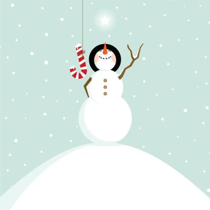 joy christmas snowman fun happy illustration vector
