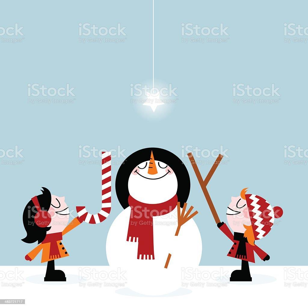 Joy christmas royalty-free joy christmas stock vector art & more images of blue
