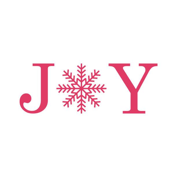 ilustrações de stock, clip art, desenhos animados e ícones de joy, greeting card with snow flakes - alegria