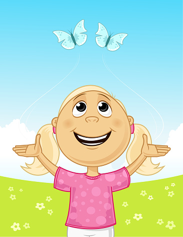 Joy In The Field Stock Illustration - Download Image Now