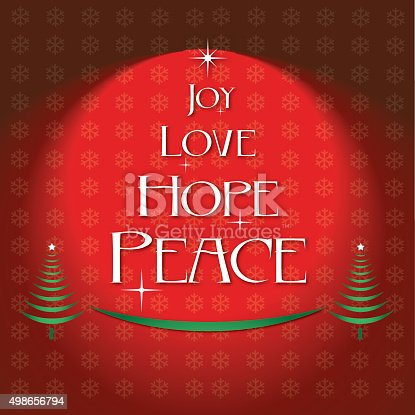 Download Joy Love Hope Peace Christmas Red Background Stock Vector ...