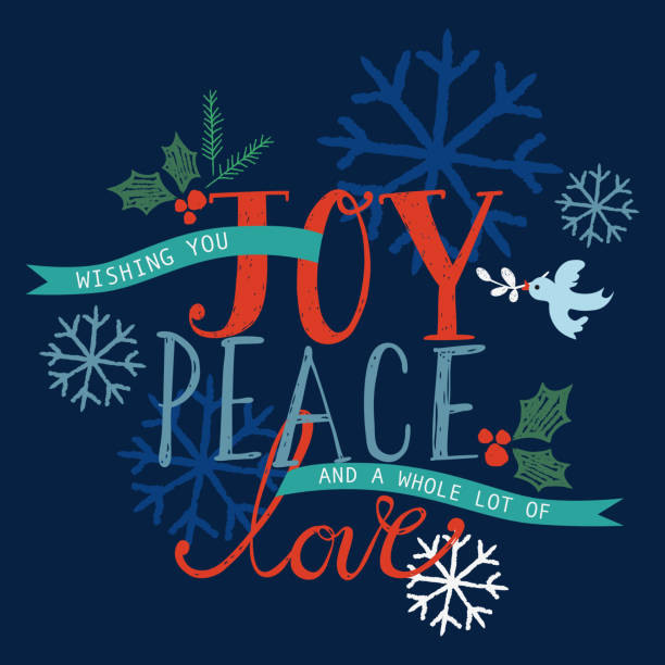 ilustrações de stock, clip art, desenhos animados e ícones de alegria, paz e amor em cartão - alegria