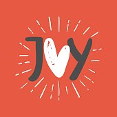 Joy phrase. Greeting card.