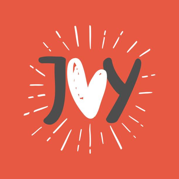 joy phrase. greeting card. - radość stock illustrations