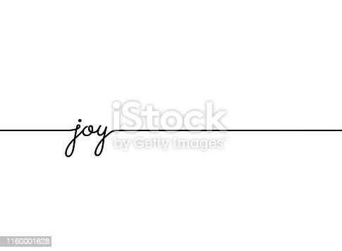 Joy slogan quote line pattern. vector illustration