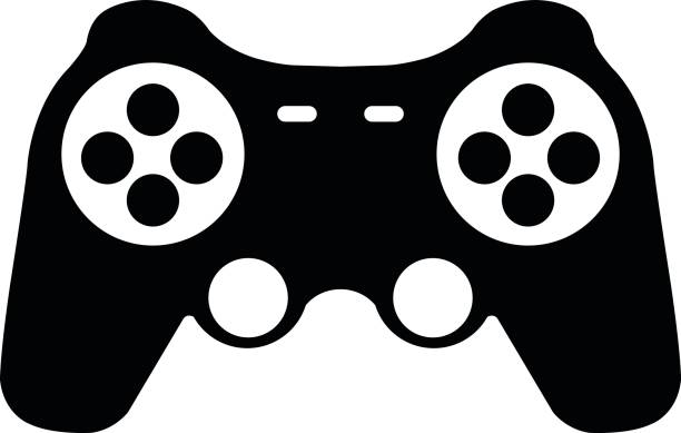 royalty free game background wire and joystick clip art vector