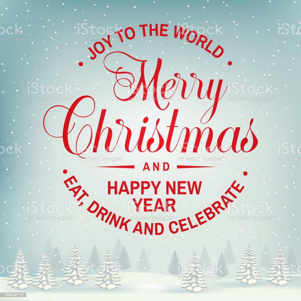 Frohe Weihnachten Und Happy New Year.Freude In Der Welt Frohe Weihnachten Und Happy New Year Stempel