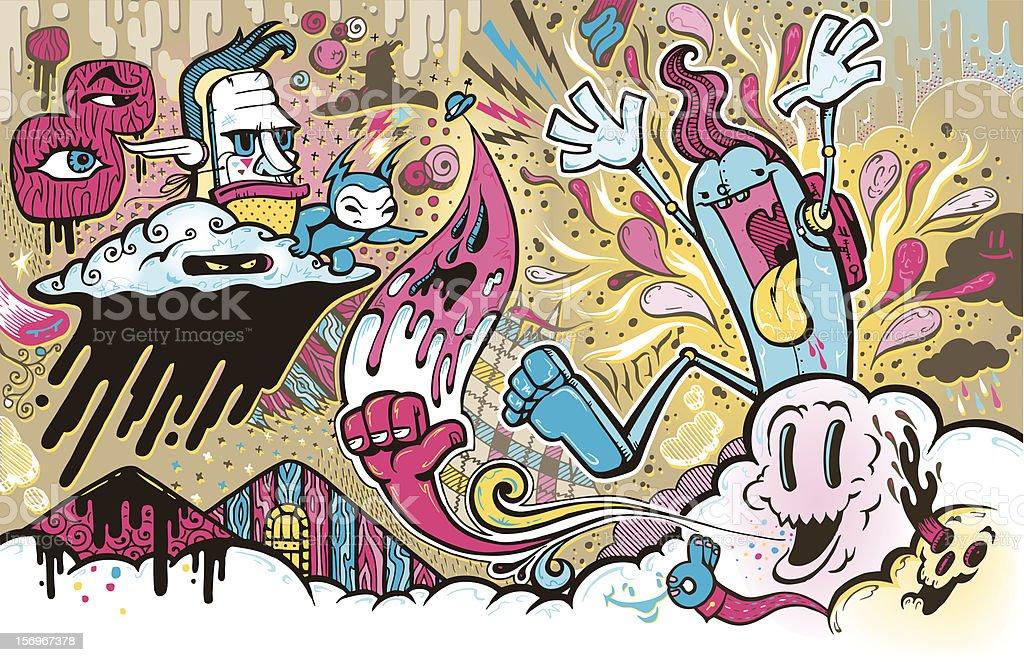 Joy inarrêtable - clipart vectoriel de Abstrait libre de droits