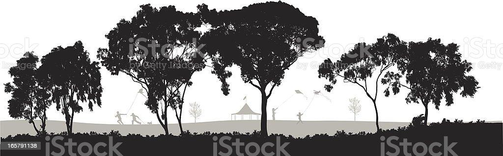 Joy! Vector Silhouette royalty-free stock vector art