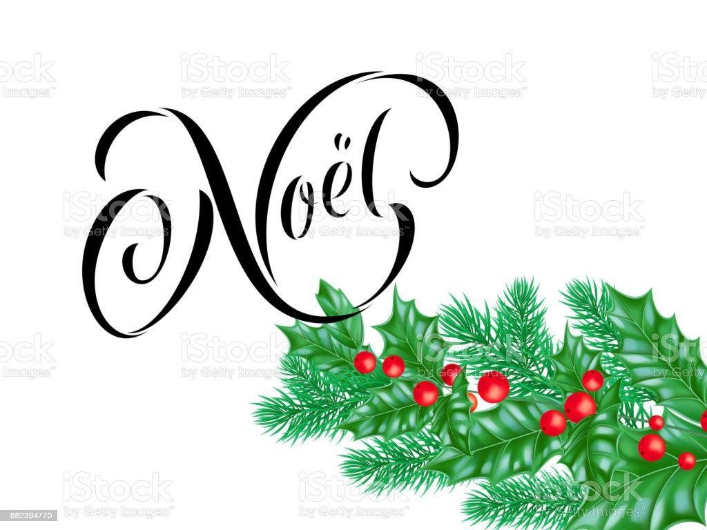 Ich Wünsche Dir Frohe Weihnachten Französisch.Joyeux Noel Französisch Frohe Weihnachten Urlaub Handgezeichneten
