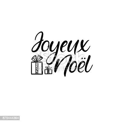 joyeux noel merry christmas in french hand lettering. Black Bedroom Furniture Sets. Home Design Ideas