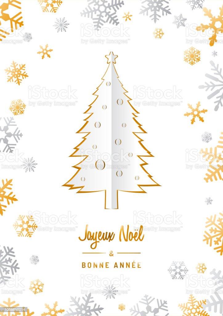 übersetzer Frohe Weihnachten.Joyeux Noël Et Bonne Année Origami Kartenvorlage In Französischer