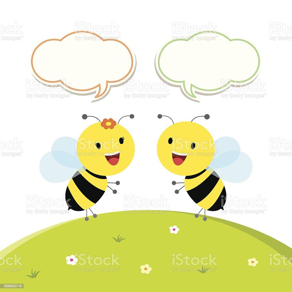 Fröhliche bees – Vektorgrafik