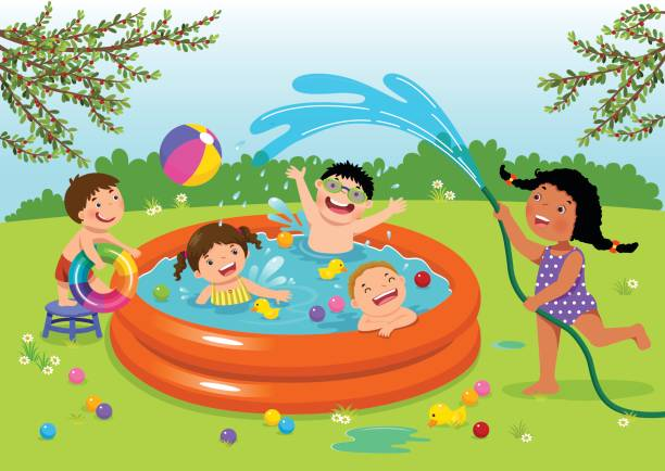 Top 60 Pool Party Clip Art Vector Graphics And