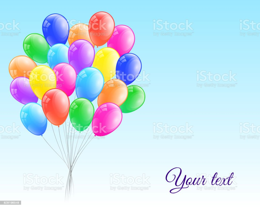 Freudige Vorlagen Mit Glänzenden Haufen Luftballons Vektor Stock