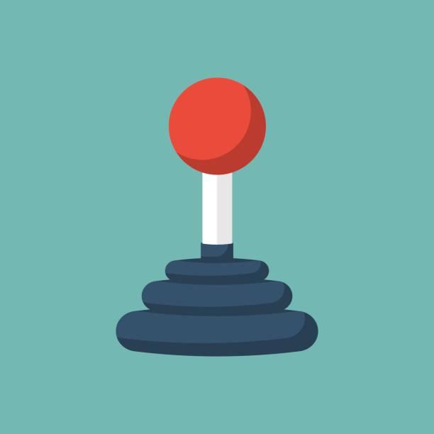 Joystick Control concept. Joystick Control concept. Joystick arcade. Controls lever gamepad. Vector illustration flat design style. Isolated on background. Computer video game. Arcademachine. joystick stock illustrations