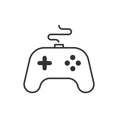 Joystick, Gamepad Icon.