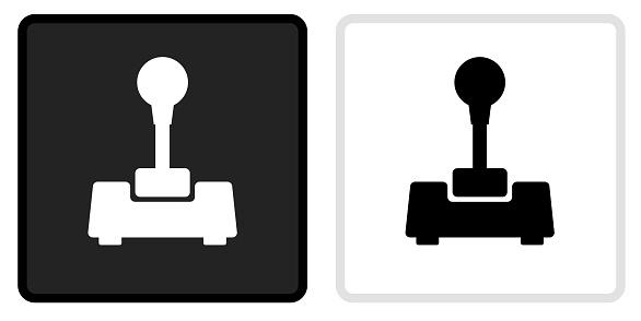 Joystick Icon on  Black Button with White Rollover