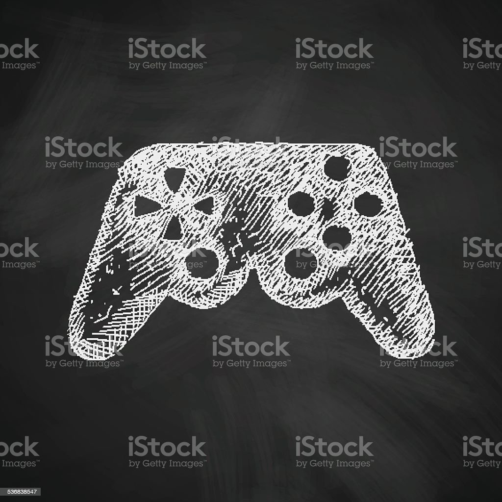 joystick icon vector art illustration