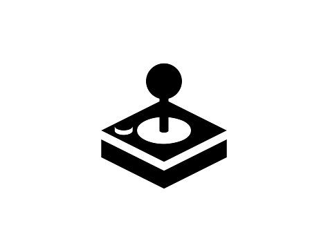 Joystick vector icon. Isolated Joystick, Gamepad, Game Controller flat illustration symbol - Vector