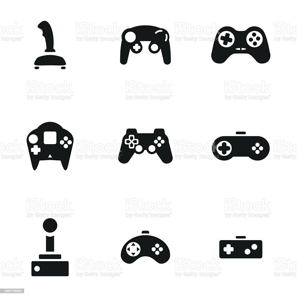 Joystick vector icons