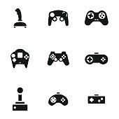Joystick vector icons