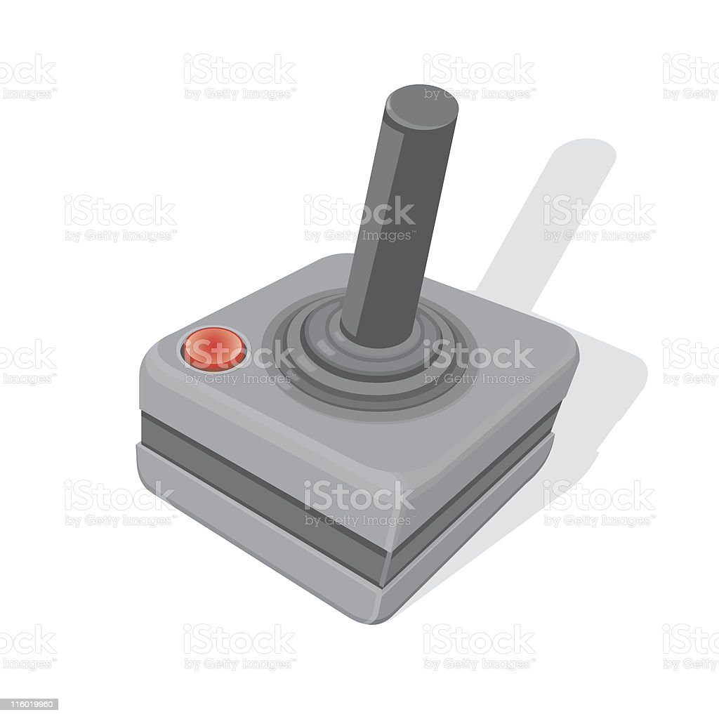Joystick vector art illustration