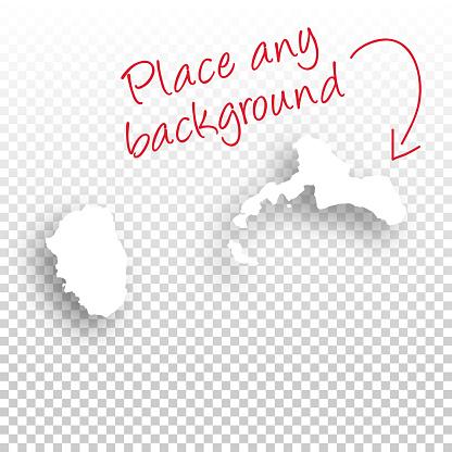Juan Fernandez Islands Map for design - Blank Background