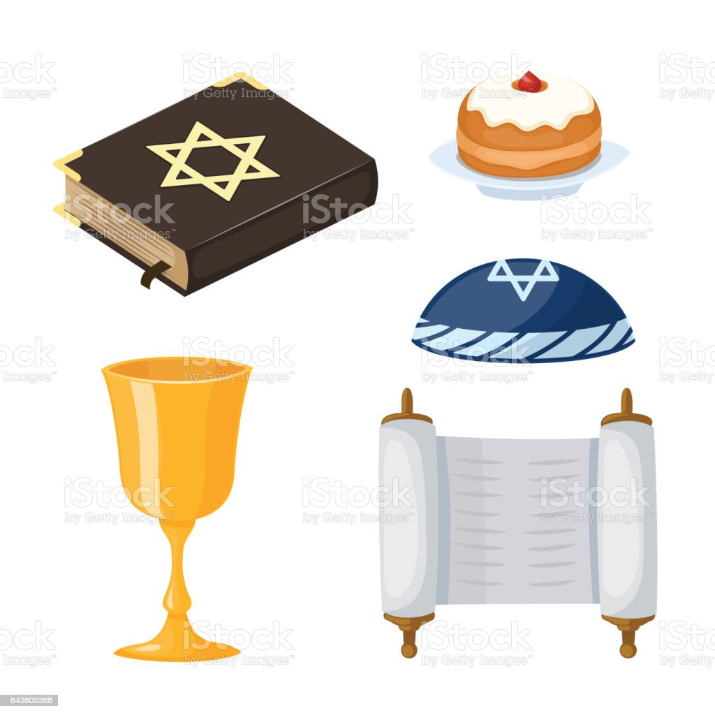 Judaism church traditional symbols icons set isolated hanukkah judaism church traditional symbols icons set isolated hanukkah religious design and synagogue passover torah menorah holiday buycottarizona Images