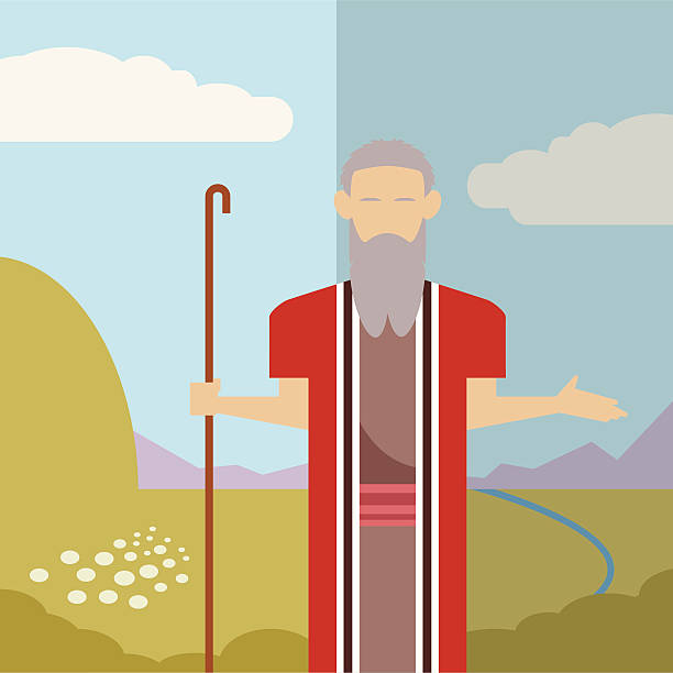 Judaism icon 2 Vector image of an icon of Moses moses religious figure stock illustrations