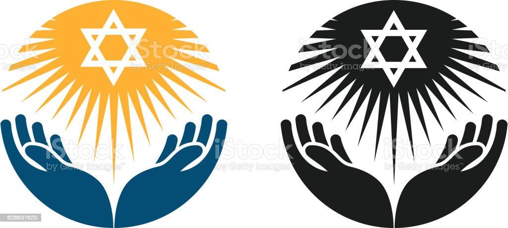 Judaism Vector Logo Star Of David Or Religion Icon Stock Vector Art