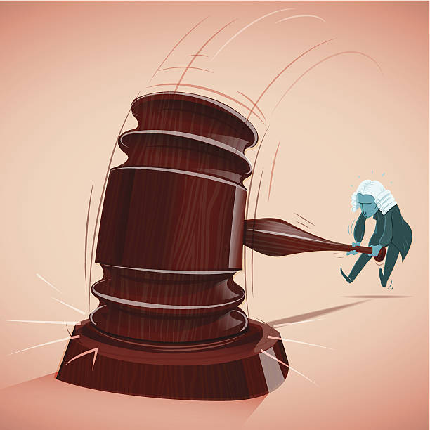 Judge Decisions A Judge ruling with conviction. Eps 10 with transparencies, global colors, high resolution JPG included. chief justice stock illustrations